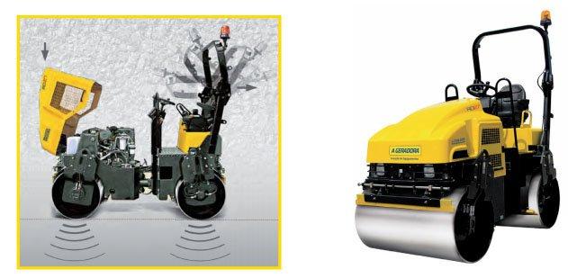 Rolo Compactador com Vibração nos Dois Tambores