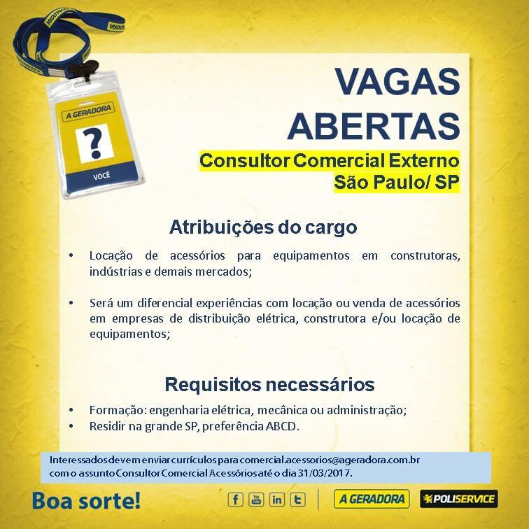 vagas externas - Consultor comercial externo - SAMPA