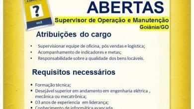 Supervisor Operação e Manutenção Goiania