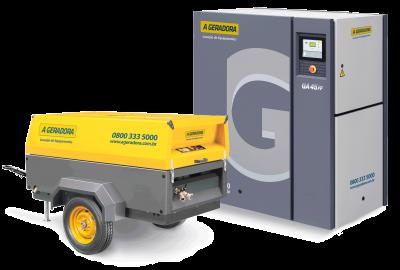 Compressor de ar elétrico ou à diesel