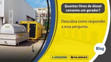 Quantos litros de diesel consome um gerador
