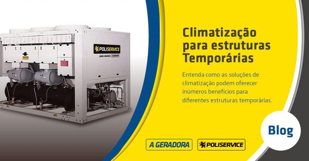 Climatização para estrutura temporária